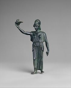 Bronze statuette of Athena flying her owl Period: Classical Date: ca. 460 B.C. Culture: Greek