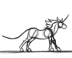 Unicorn Slo-mo run- Rough by DarkmaneTheWerewolf