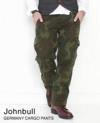 Johnbull ジョンブル ジャーマニーカーゴパンツ オリーブ カモフラージュ柄 11464-261
