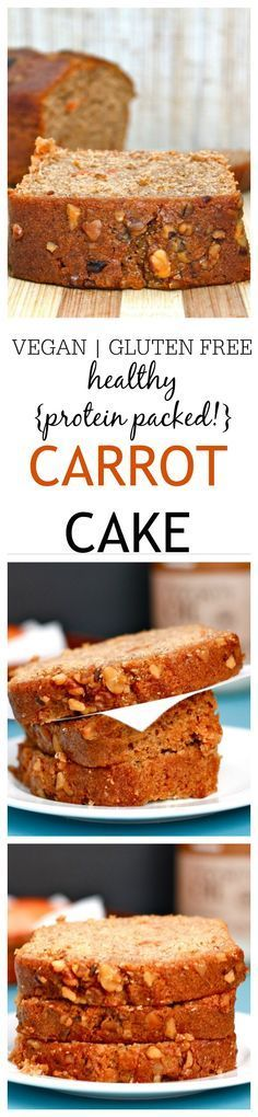 Healthy {protein packed!} Carrot Cake- The best tasting carrot cake, you won't even need the frosting- Crumbly on the outside, moist and flavourful on the inside! Made with Greek yogurt, it's high in protein, refined sugar free and there is a vegan option too- Perfect for a snack or breakfast on the go! @thebigmansworld -thebigmansworld.com