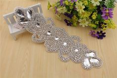 Handmade Beaded Ladies Wedding Dress rhinestone Belts,waist belt Diy Accessories Luxury Rhinestone bridal dresses waistband applique, handbeaded applique Clothing decoration embellishment ** You can find more details by visiting the image link.