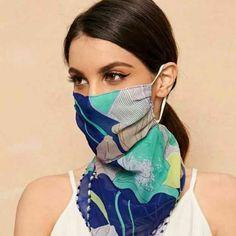 Chiffon Material, Sheer Material, Diy Mask, Diy Face Mask, Face Masks, Bandana, Sweat Out, Neue Outfits, Le Jolie