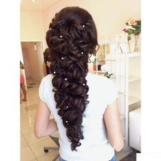Weekly hair collection: 39 TOP hairstyles that you will love! Top Hairstyles, Bride Hairstyles, Pretty Hairstyles, Hairstyle Ideas, Medium Hair Styles, Curly Hair Styles, Wavy Hair Overnight, Overnight Waves, Overnight Braids