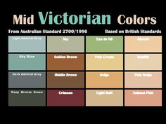 Victorian House Polychrome Paint Schemes Ideas - There are basic principle rules for Victorian house polychrome paint schemes. The rules apply to color placement and harmony. by Joey Victorian House Interiors, Victorian Bedroom, Modern Victorian, Victorian Furniture, Victorian Decor, Victorian Homes, Victorian Era, Vintage Furniture, Victorian Townhouse
