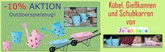 -10 % auf ausgesuchtes Outdoorspielzeug wie Schubkarren Gießkannen und Eimer von Jabadabado.