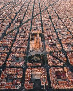 Barcelona is one of my favorite cities to look at aerial pictures of. In this image, you can clearly see the grid system imposed on the land and the social and cultural significance of landmarks such as Sagrada Familia.