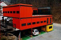 기부51 '글라스 아트 판타지아 in 청평' 전시장으로 선정된 레드박스 전경사진(전시장은 3층)