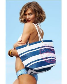 İste-Gelsin - Beach Bag Blue White Stripe