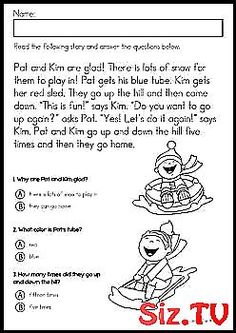 Winter Literacy Worksheets and Activities No Prep Kindergarten Winter Literacy Worksheets & Activities No Prep. A page from the unit: Winter reading comprehension - Kindergarten Lesson Plans Literacy Worksheets, Kindergarten Lesson Plans, Reading Comprehension, Prepping, The Unit, Activities, How To Plan, Winter, Club