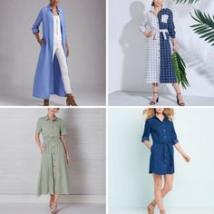 Get ready for spring with your very own shirt dress! #sewingpatterns #simplicitypatterns #newlookpatterns #dresspatterns #shirtdress #shirtdresspatterns #womenssewingpatterns New Look Patterns, Simplicity Patterns, Dress Patterns, Vintage Vogue, Vintage Fashion, Vogue America, Kwik Sew, Vogue Patterns, Vogue Paris