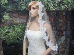 wedding bridal lace mantilla veil 50x50 fingertip by alexbridal, $59.99 what do we think?