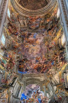 he Church of Saint Ignatius of Loyola at Campus Martius Rome Italy