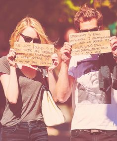 How great are they? Emma Stone and Andrew Garfield :)