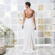 Gio Rodrigues Bella Wedding Dress sensual wedding dress cotton lace draped spaghetti straps engaged inspiration unique gorgeous elegant bride