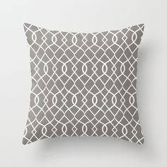In the Grey Throw Pillow by Brandy Coleman Ford - $20.00