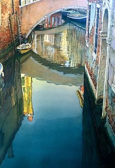 Joel R. Johnson  Reflections in Blue, Venice