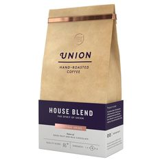 Union Coffee Medium Roast Cafetiere Grind - House Blend 200g from Ocado
