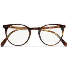 Oliver Peoples - Sir O'Mallety Round Frame Acetate Glasses