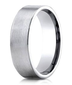 Designer 950 Platinum Mens Wedding Ring With Rounded Edges | 6mm