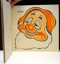 This set of paper masks comes from the Masks of the Seven Dwarfs and Snow White book (no. published in 1938 by Whitman Publishing Com. Snow White Book, Snow White Art, Don Hahn, Snow White Seven Dwarfs, Walter Elias Disney, Paper Mask, 1 Peter, Busy Book, Paper Toys