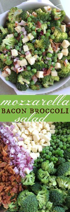 Mozzarella Bacon Broccoli Salad - Together as Family