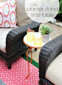 Hi Sugarplum {Backyard DIY} Patio Side Table