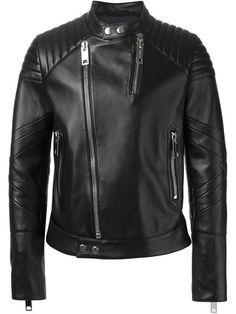 Band Collar Biker Jacket   Les Hommes