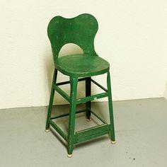 Vintage stool  metal  kitchen stool  seat  by moxiethrift on Etsy, $52.50