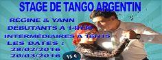 Stage #LePerreux Bonjour, Régine et Yann, sont heureux de pouvoir vous annoncer leurs stages de tango argentin ici sur la ville du Perreux où il semb