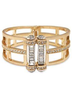 Kenneth Cole New York Geometric Cut-Out Hinged Cuff Bracelet