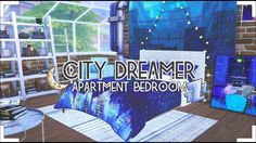 Sims 4: City Dreamer Apartment Bedroom|CC - YouTube