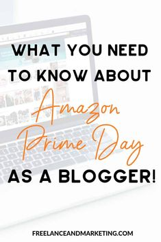 Amazon Prime Day is an important day for bloggers. You can make money from Amazon as an Amazon affiliate. Learn how to keep an eye for deals and how to make money from Amazon. #amazonaffiliate #affiliatemarketing #blog #makemoneyblogging via @FreelanceandMarketing Make Money On Amazon, Make Money Online, How To Make Money, Make Money Blogging, Earn Money, Blogging Ideas, Amazon Affiliate Marketing, Amazon Prime Membership, Amazon Prime Day