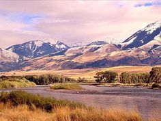 Yellowstone River, just south of Livingston, Montana.
