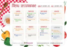 menu-settimana-49-small Menu Planners, Desperate Housewives, Detox Recipes, Food Lists, Meal Planning, How To Plan, Pasti Equilibrati, House Management, Bullet Journal