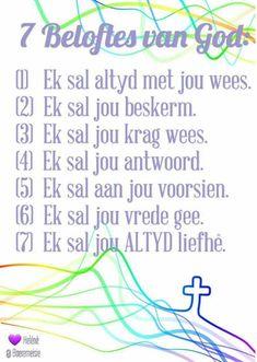 Prayer Verses, Bible Prayers, Prayer Book, Bible Verses, Inspirational Quotes About Success, Motivational Quotes, Motivation For Kids, Sunday School Kids, Afrikaanse Quotes