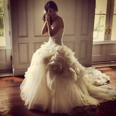 My dress :)) Vera Wang Hayley<33. Can't wait until me and Chris have our real ceremony!!
