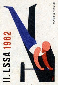 II. LSSA 1962. 15/15. Czechoslovak matchbox label.