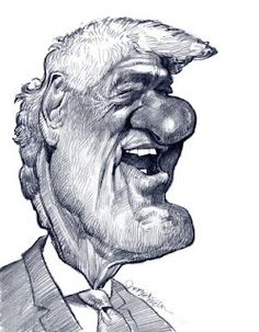 Artist:Jan Op De Beeck   Caricature:Bill Clinton
