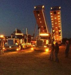 Peterbilt lights...my childhood summed up in a picture lol
