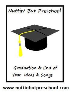 End of Year Graduation Songs - Song ideas to end your preschool year on a good note. Preschool Graduation Songs, Graduation Poems, Graduation Crafts, Preschool Programs, Preschool Music, Kindergarten Graduation, Preschool Themes, Preschool Lessons, Graduation 2015