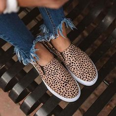 Casual Slip On Sneakers Style: Daily,Casual Item: Sneakers Upper Material: Polyester Toe: Round Toe Closure Type: Slip-On Heels: Flats Leopard Print Slip On Sneakers, Leopard Espadrilles, Espadrille Sneakers, Leopard Shoes, Slip On Shoes, Cheetah Print, Casual Sneakers, Sneakers Fashion, Fashion Shoes