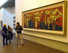 The gallery of Oswaldo Guayasamín (1919-1999) an Ecuadorian master painter and sculptor of Quechua and Mestizo heritage