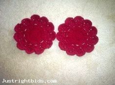 4 Crocheted Dish Cloths - Burgundy (Auction ID: 186747, End Time : Apr. 09, 2013 12:38:02) - Free Online Auctions Site Justrightbids