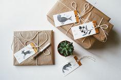 DIY gift tags + free printable - Oana Befort