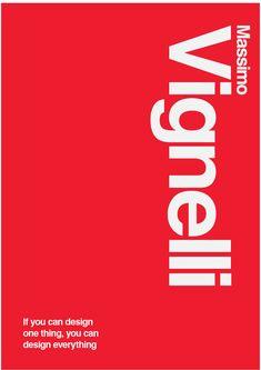 Massimo Vignelli : Matteo de Franceschi Portfolio