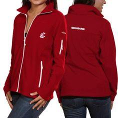 Columbia Washington State Cougars Ladies Give Go Full Zip Vest ...