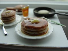 1:12 scale // Miniature making pancakes by Kimsminibakery on Etsy