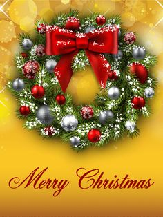 Send Free Shining Christmas Wreath Card to Loved Ones on Birthday & Greeting Cards by Davia. It's free, and you also can use your own customized birthday calendar and birthday reminders. Merry Christmas Wallpaper, Merry Christmas Pictures, Merry Christmas Quotes, Merry Christmas Happy Holidays, Christmas Love, Christmas Wreaths, Christmas Dance, Christmas Wishes Greetings, Christmas Blessings