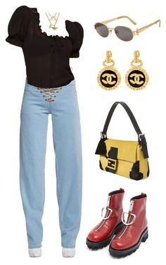 """Untitled #1981"" by lucyshenton ❤ liked on Polyvore featuring Fendi, Y/Project, Jean-Paul Gaultier, Alyx and Chanel"