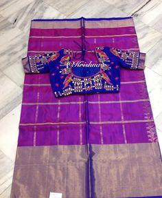 Light Weight Magenta Kanjivaram Saree http://www.yarnstyles.com/index.php/green-ikat-saree-peacock-design/